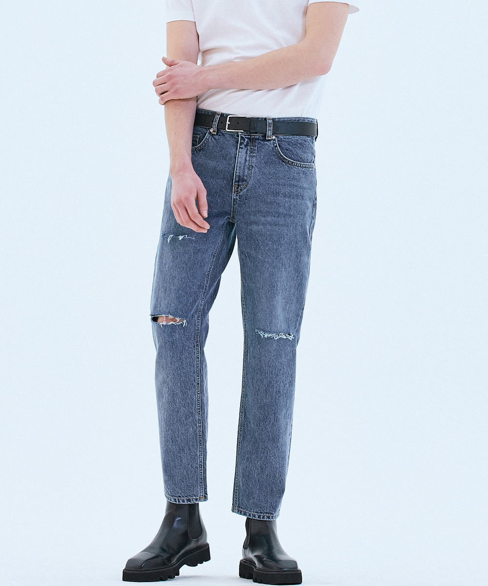 062 Tapered fit urban crew jeans Fine blue